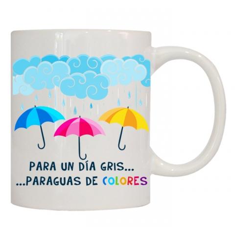 PARA UN DÍA GRIS, PARAGUAS DE COLORES